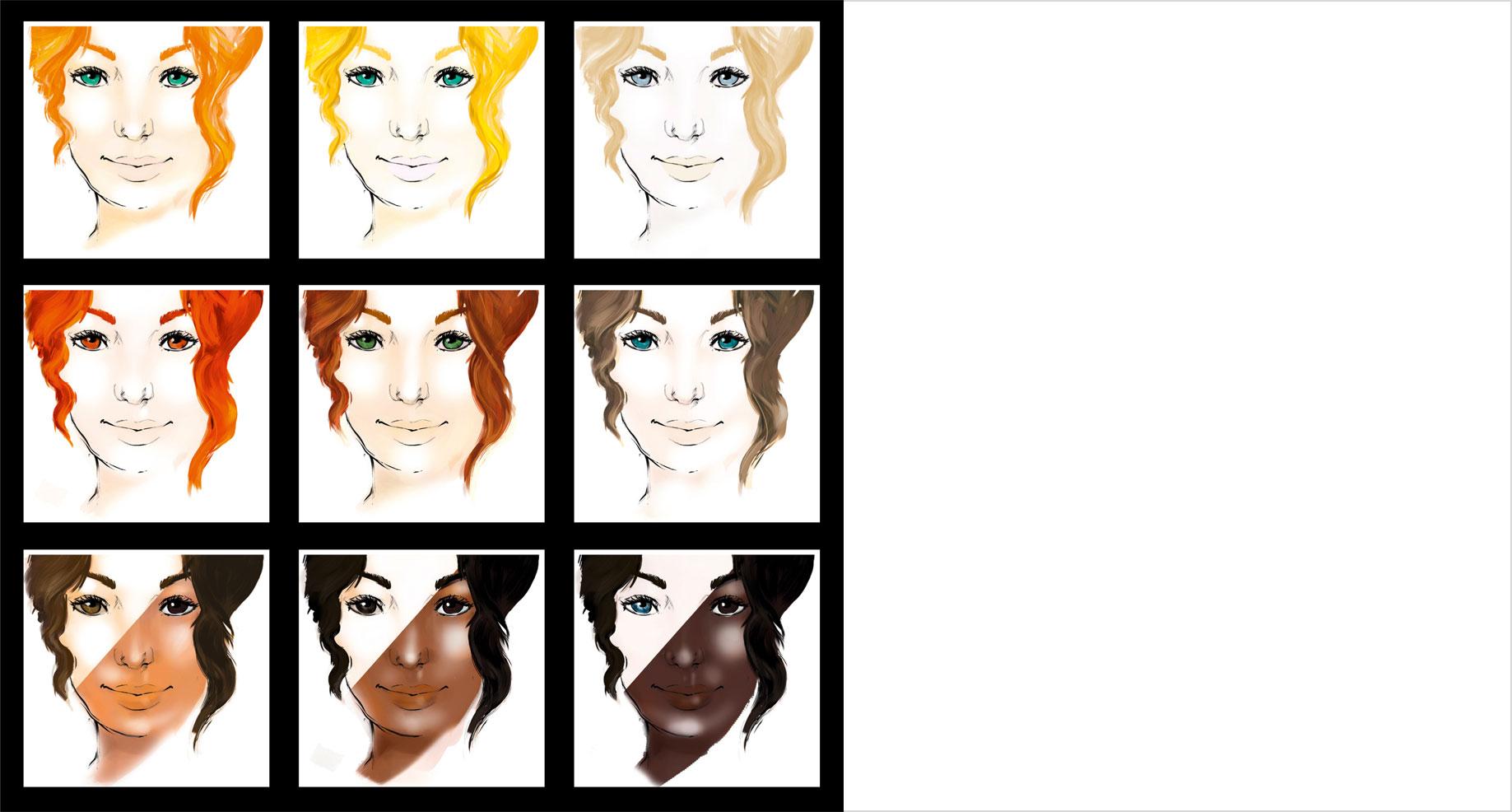 9er Farbwahl-System